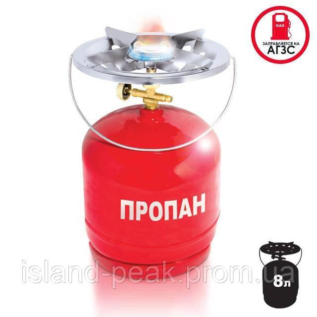 Комплект газовый кемпинговый 8 л. INTERTOOL GS-0008