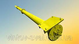 Шнек в сборе без двигателя в трубе 159 мм, длиной 4 м, толщина спирали 2 мм
