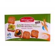 Сухари пшеничные цельнозерновые Minigrill, 120г, фото 1