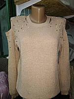 Модная женская Люрексовая кофта вязаная размер 44-46