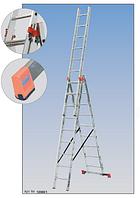 Универсальная алюминиевая трехсекционная лестница 3х6 KRAUSE Tribilo 4,40м
