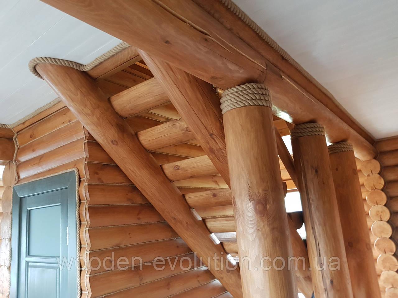 Декорирование канатом, монтаж каната