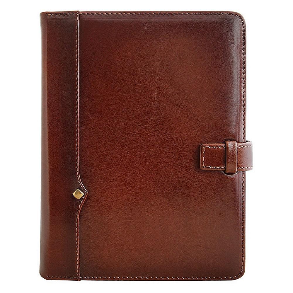 """Ежедневник кожаный А5 """"Дипломат"""". Цвет коричневый."""