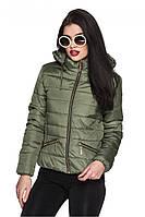 Женская куртка ОЛЯ хаки  Модная зона  44-54 размеры
