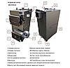Твердотопливный пиролизный котел 20 кВт DM-STELLA, фото 3