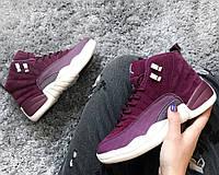 Женские кроссовки Air Jordan Bordeaux 12. Живое фото (аир джордан, эир джордан)