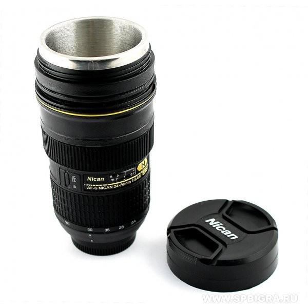 Термокружка, термос, чашка об'єктив Nikon (Niсаn) 24x70 гуртка з підігрівом від прикурювача