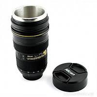 Термокружка, термос, чашка об'єктив Nikon (Niсаn) 24x70 гуртка з підігрівом від прикурювача, фото 1