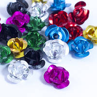 Бусины алюминиевые, цветок, микс, 6х4,5мм, 200 шт УТ0029625
