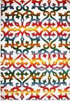 Ковёр Kolibri с цветным орнаментом - белый 1.60х2.30 м.