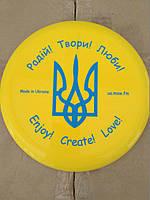 "Летающая тарелка ""Made in Ukraine Герб"" желтая"