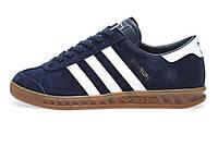 Мужские кроссовки Adidas Hamburg Navy Metallic Gold White