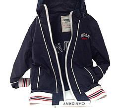 Детская Куртка-Ветровка мальчику, 79BLUE 98,104, 110, 116, 122,128 Синий
