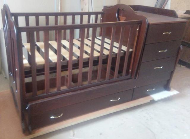 """Детская кроватка - трансформер 2в1 Трия """"Сердце"""""""