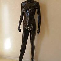 Манекен женский лакированный чёрный