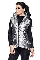 Женская жилетка ТЕОНА серебро Модная зона  44-54 размеры
