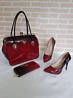 Набор: сумка, кошелек, обувь