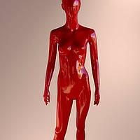 Манекен женский лакированный красный
