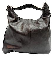 Удобная объёмная женская сумка из натуральной кожи темно-коричневого цвета SJW-022800, фото 1