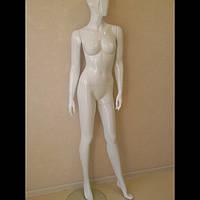 Белый манекен женский лакированный