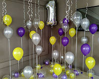 Оформления шарами на год