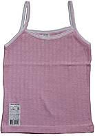 Майка для девочки розовая на бретельках, рост 86 см, 92 см, 104 см, Ля-ля