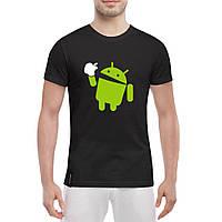 Мужская футболка Android , фото 1