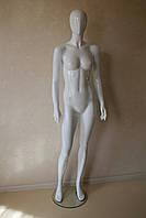Манекен женский белый лакированный