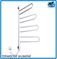 """Электрический полотенцесушитель Элна """"Флюгер-3"""" белый термостат"""