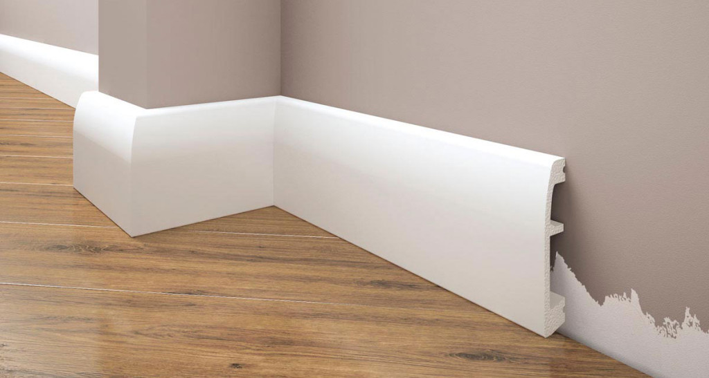 Плинтус под покраску Cezar Elegance LPC-06 белый матовый
