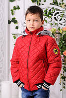Весенне-осенняя куртка «Мачо» для мальчика-подростка 10-14 лет (размер 38-46 / 140-164) ТМ MANIFIK Красный