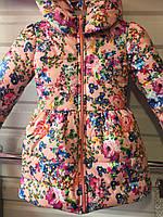 Детская весенняя куртка для девочки  4-7 лет
