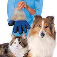 Pet Brush Glove перчатка для снятия шерсти с домашних животных