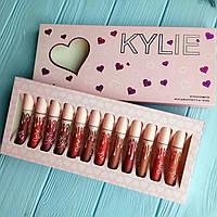 Набор жидких матовых помад Kylie I Want It All (сердечко) 12шт (реплика), фото 1