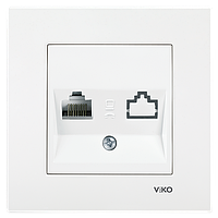 VIKO Karre розетка компьютерная RJ45 белая