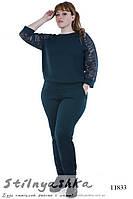 Нарядный костюм брюками большого размера бутылка, фото 1