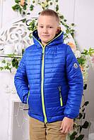 Демисезонная куртка «Монклер-6» для мальчика 7 лет (р. 32 / 122) ТМ MANIFIK Синий