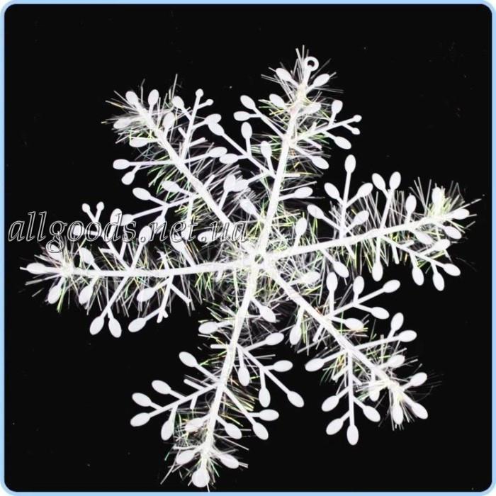 Снежинки 3 шт.  Новогодний декор 18см диамерт
