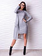Костюм двойка платье и кардиган p.42-48 VM2176-3