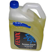 Омивач скла (ЗИМА FENIX Лимон з лійкою -25 4л