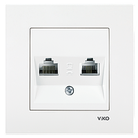 VIKO Karre розетка комп+телефон RJ45+RJ11 белая