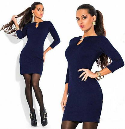 """Эффектное и изысканное женское платье ткань """"Стеганный трикотаж"""" 48 размер батал, фото 2"""
