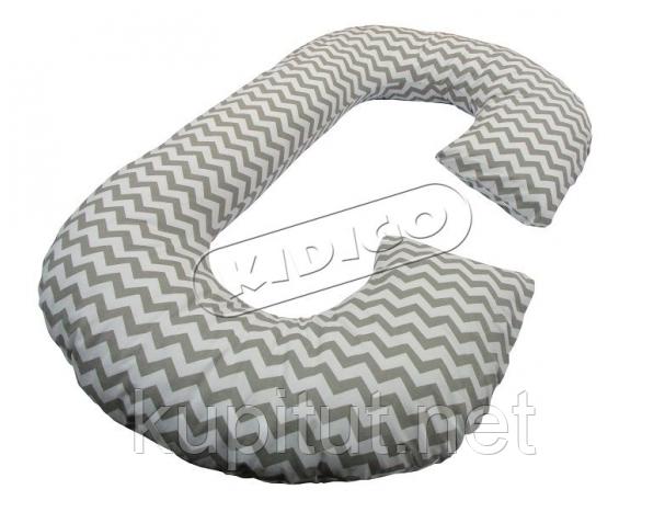 Подушка для беременных KIDIGO Рогалик - Зигзаг (с наволочкой) PDV-R2