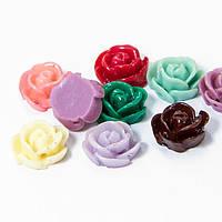 Бусины, смола, цветок, микс, 12х8 мм, 5 шт УТ100005997