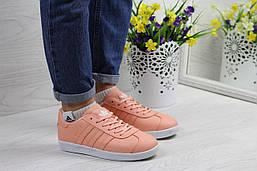 Женские кеды Adidas Gazelle (персиковые), ТОП-реплика