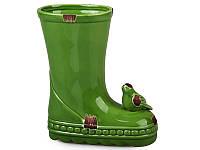 "Кашпо Lefard ""Cапог"" с птичкой зеленое 17,5 см, 940-068"