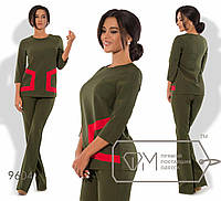 """Стильный женский костюм Блуза+брюки """"Костюмная ткань"""" 42, 44 размер норма"""