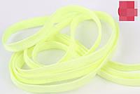 Шнурки флуоресцентные (пара) 120см желтый