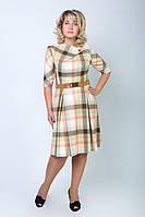 Купить красивое шерстяное батальное платье