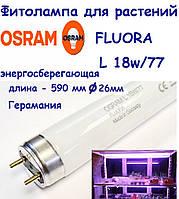 Фитолампа энергосберегающая люминесцентная Osram  Fluora L18W/77 T8 G13